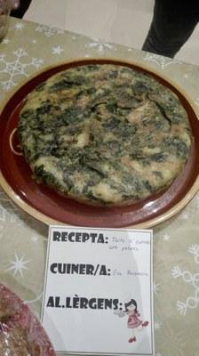 Truita d'espinacs amb patata